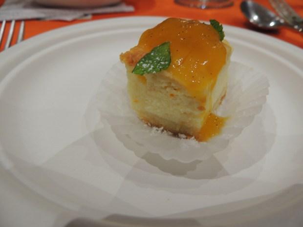 Mango Ricotta Cheesecake with Truffle Honey