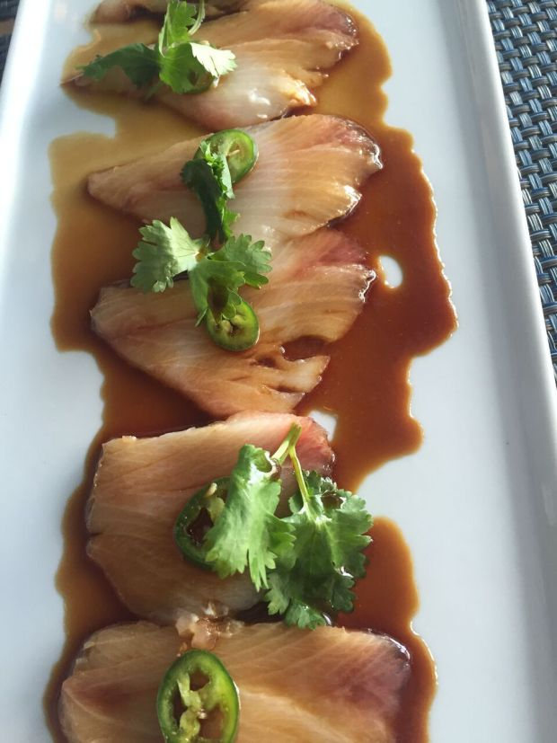 Yellowtail Tiradito from Sushi Maki in Coral Gables. Click to read more or Pin and save for later.
