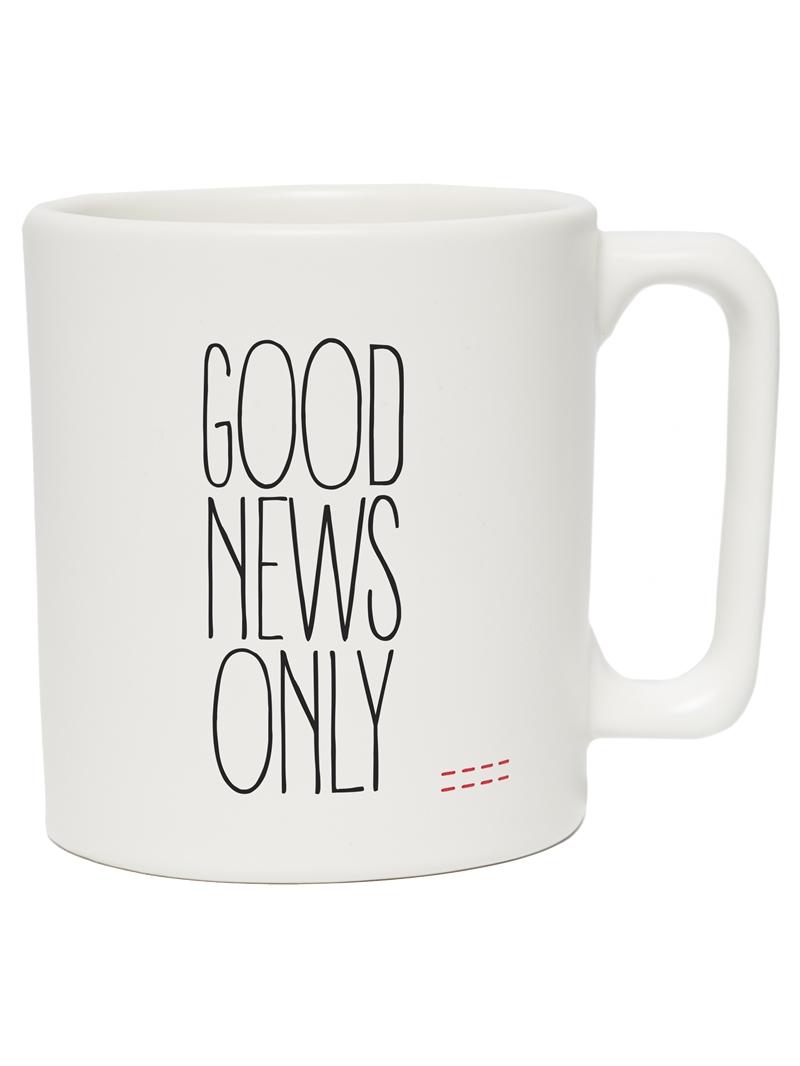 Peace Love World Good News Only Mug