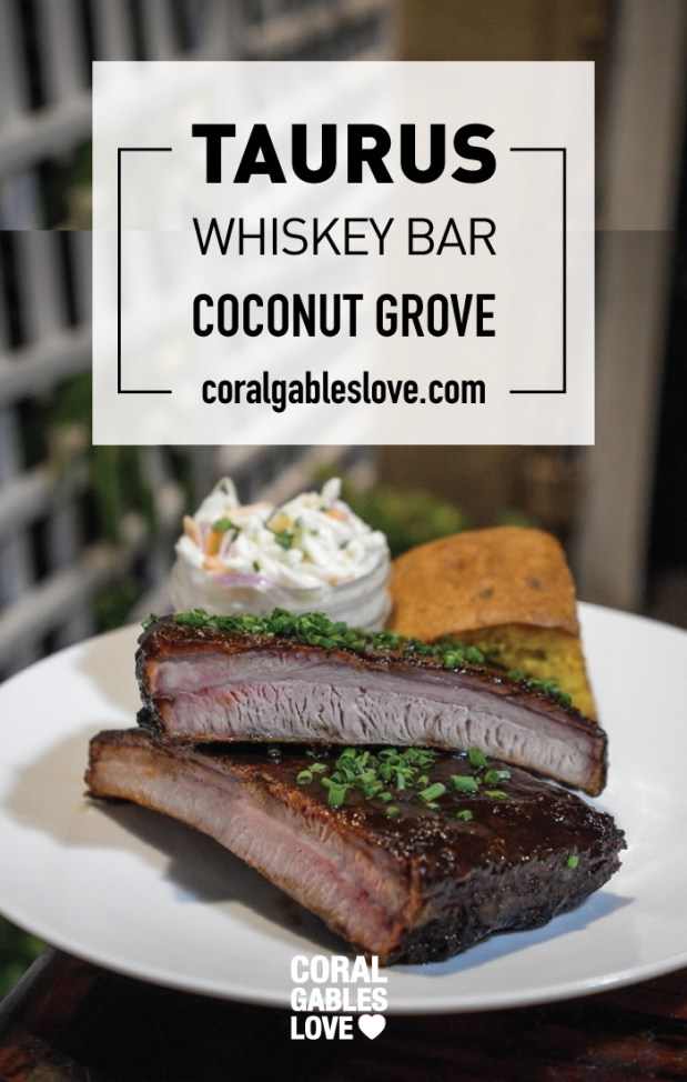 Ribs from Taurus Whiskey Bar in Coconut Grove, Florida. Miami restaurants
