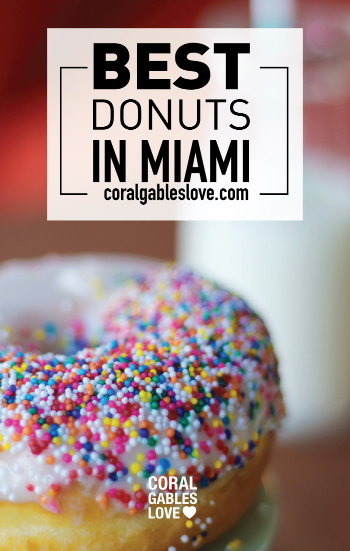 The Best donuts in Miami are Honeybee Doughnuts in South Miami. This is the sprinkles flavor.