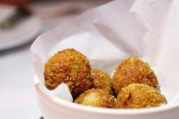 Taberna Giralda is the best Spanish restaurant in Coral Gables and serves delicious Serrano ham croquetas.