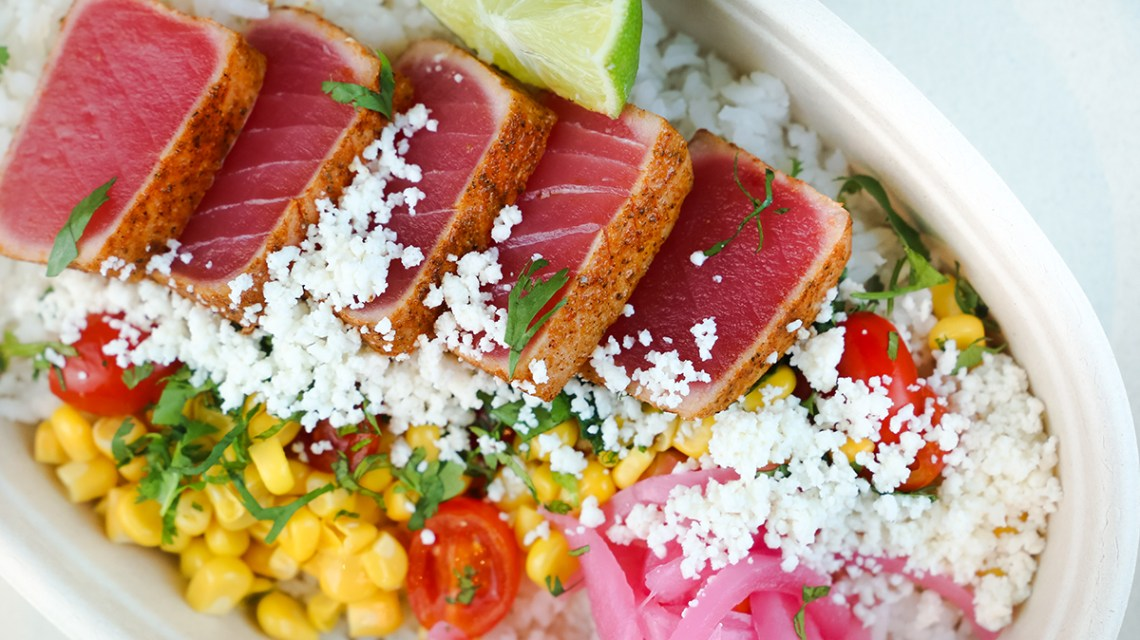 My Ceviche serves poke bowls, salads, and seafood burritos in downtown Coral Gables. The perfect spot for lunch in Miami, Florida.