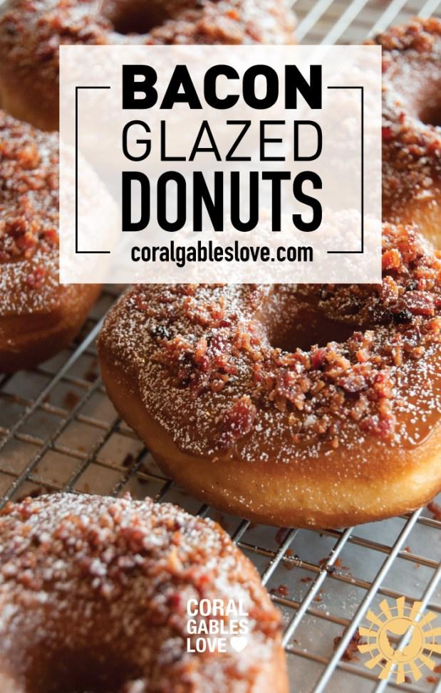 Spring Chicken Breakfast menu includes chicken bacon glazed donuts. Miami restaurant.