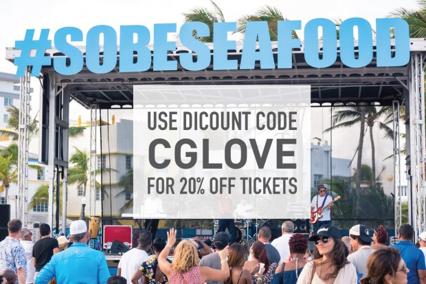 The South Beach Seafood Festival always take place on Miami beach in October. Use promo code CGLOVE for 20% off your ticket price.