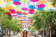 Miami Umbrella Sky Project - Instagram Hot Spot. Add to your bucket list when visiting Miami, Florida.