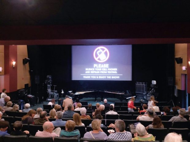 Gables Cinema Sunrise movie screening with two brilliant pianists playing live music