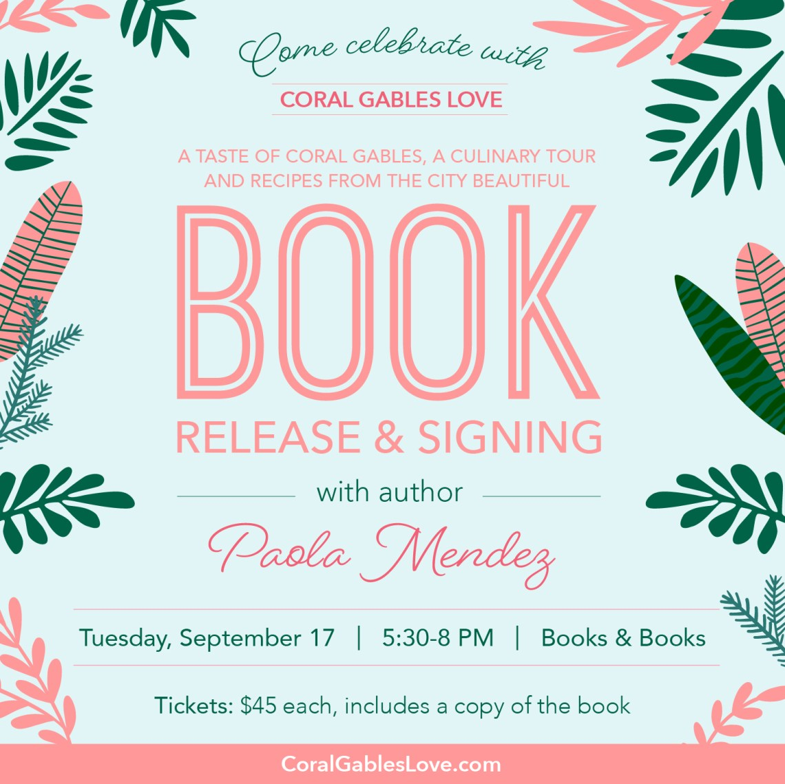 Paola Mendez Book Signing A Taste of Coral Gables
