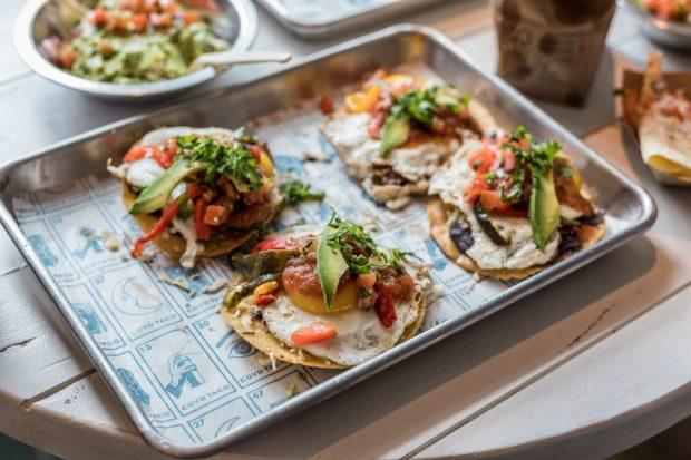 Coyo Taco Coral Gables location on Giralda Avenue brunch huevos rancheros