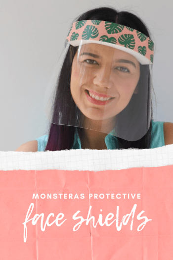 buy monstera leaves Plastic Protective Face Shields In stock