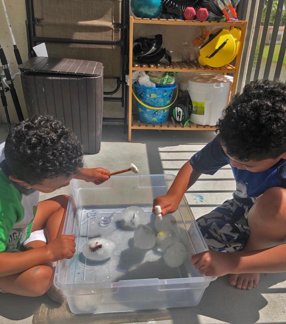 Kids Activities at Home Frozen Dinosaur Eggs