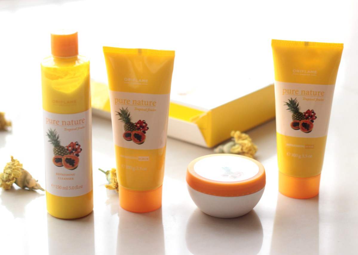 59c6dc83d7 From My Winter Bag: Oriflame Pure Nature Tropical Fruits Facial Kit for  Normal to Dry Skin