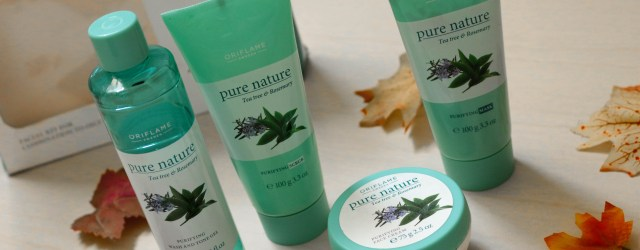 Oriflame Pure Nature Rosemary and Tea Tree Facial Kit Review Photos