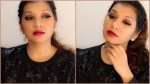 Brown Smokey Eyes with a Mellow Red Lip Makeup Look!