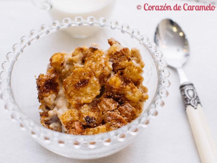 Porridge ó gachas de avena con fruta
