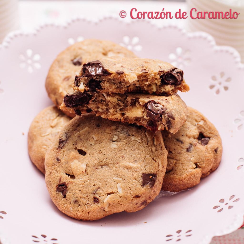 Cookies con dos chocolates