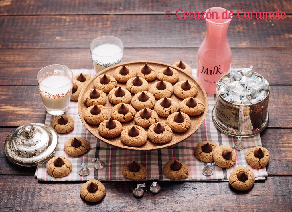 Kisses cookies con mantequilla de cacahuete   Peanut Blossom Cookies