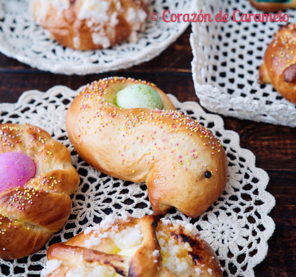 Receta de mona de Pascua y de pan quemado