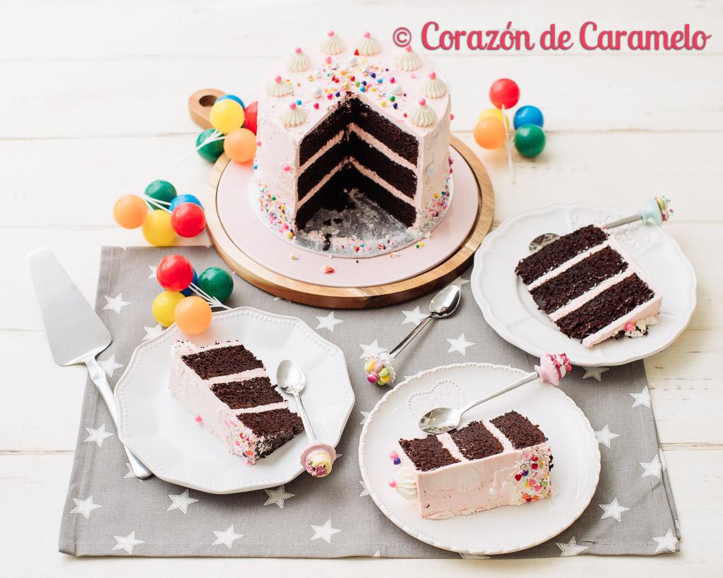 Tarta de chocolate con buttercream de merengue suizo (SMBC)