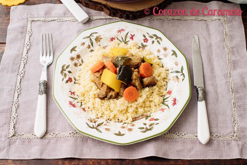Cuscús de cordero y verduras
