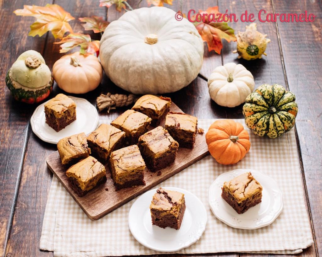 Brownie de chocolate y calabaza | Receta de otoño