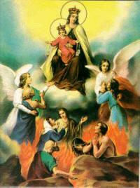 La Virgen rescata del purgatorio