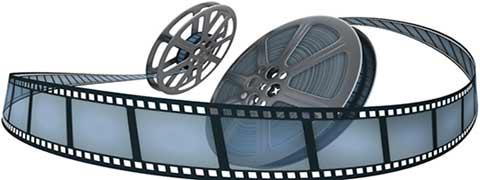 carrete de película de cine