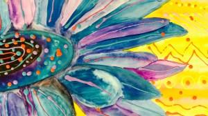 Georgia O'Keeffe Inspired Flowers