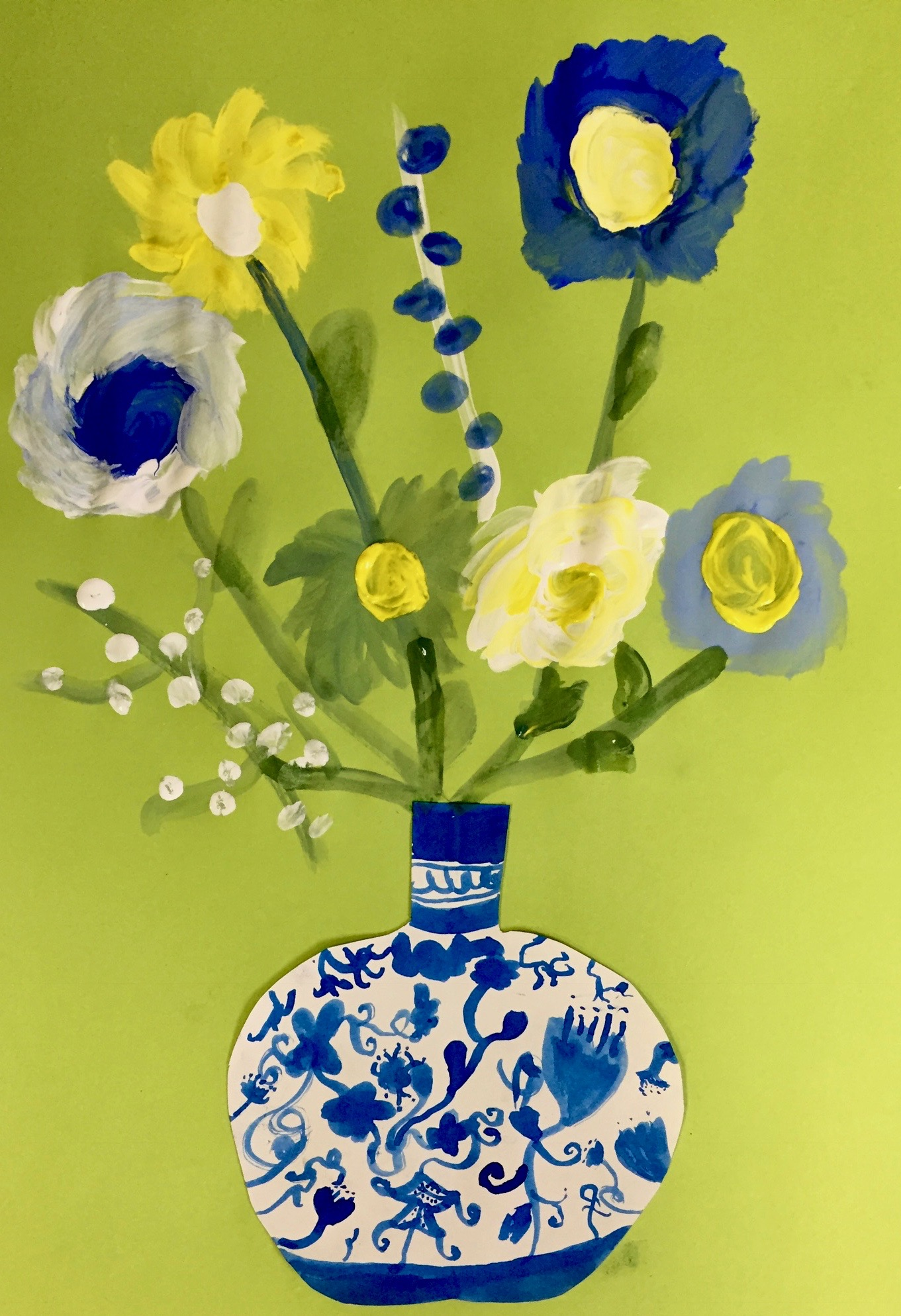 Chinese Vases with Flowers • Corbie Arts