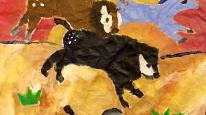 Horses in Acrylic