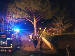 Barbecue in fiamme a San Mariano, i pompieri intervengono con una squadra 4