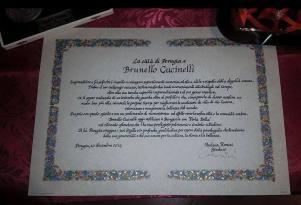Brunello Cucinelli riceve i sigilli della città di Perugia 2