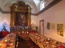 Il cardinale Gualtiero Bassetti a pranzo nella sala parrocchiale in San Mariano-Girasole 5