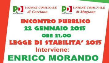 Il Viceministro dell'Economia Enrico Morando spiega la Legge di Stabilità 2015 ai cittadini