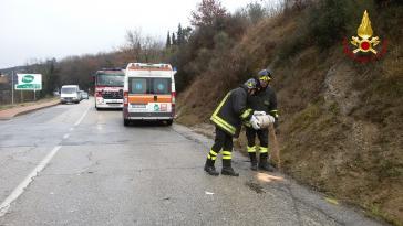 Incidente a Corciano: l'Ape si ribalta, intervengono i vigili del fuoco 3