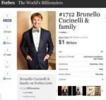 Da Solomeo a Forbes, Cucinelli è fra gli uomini più ricchi al mondo