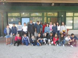 Gli alunni della Bonfigli in visita alla sede della Polizia Municipale di Corciano 4