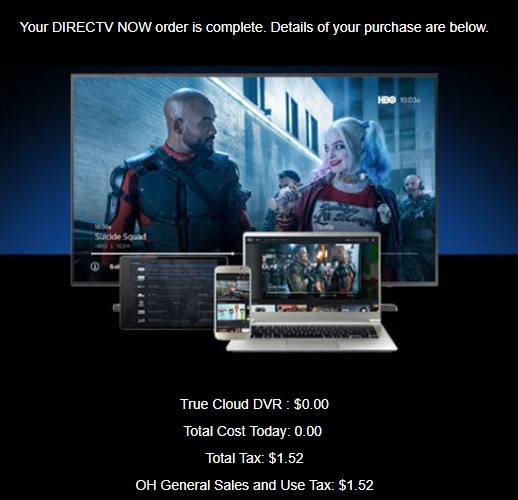 DIRECTV NOW Emails Subscribers About A New True Cloud DVR Cord - Online invoice dtv