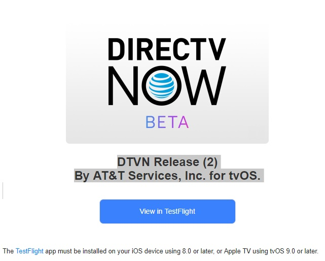 DIRECTV NOW is Rolling Out a New Beta App on iOS & Apple TV