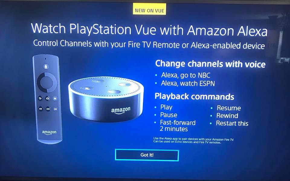 PlayStation Vue Adds Support For Alexa-enabled Devices - Cord