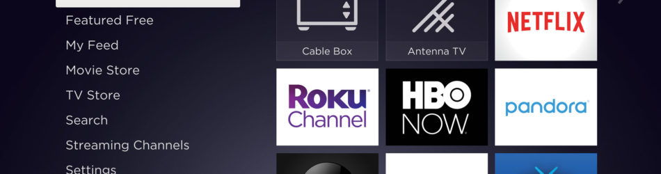 ROKU TV Homescreen