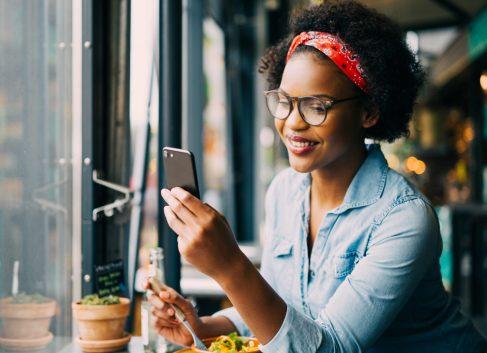 Girl looking at phone