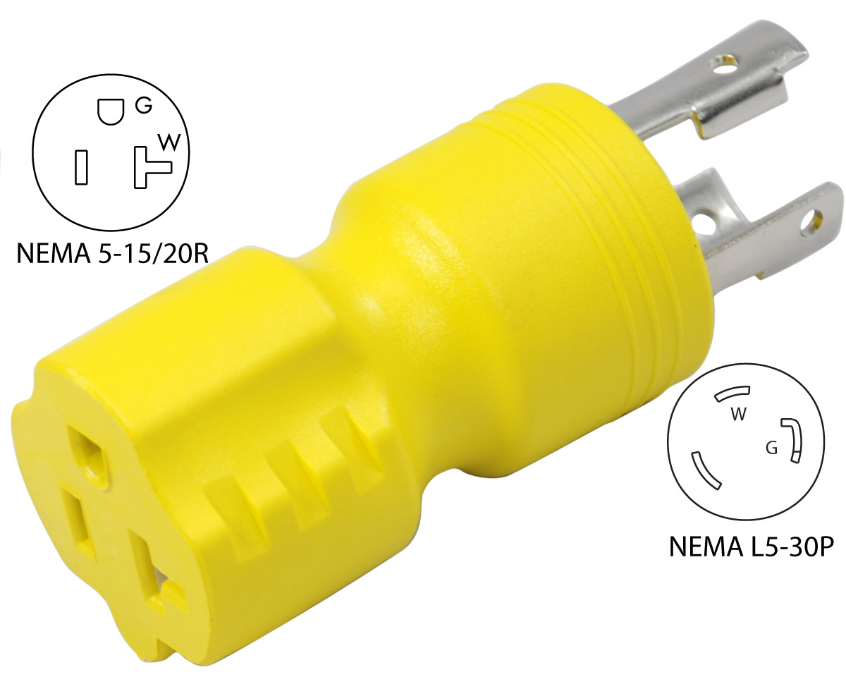 Conntek Amp Bk L5 30p To 5 15 20r Plug Adapter