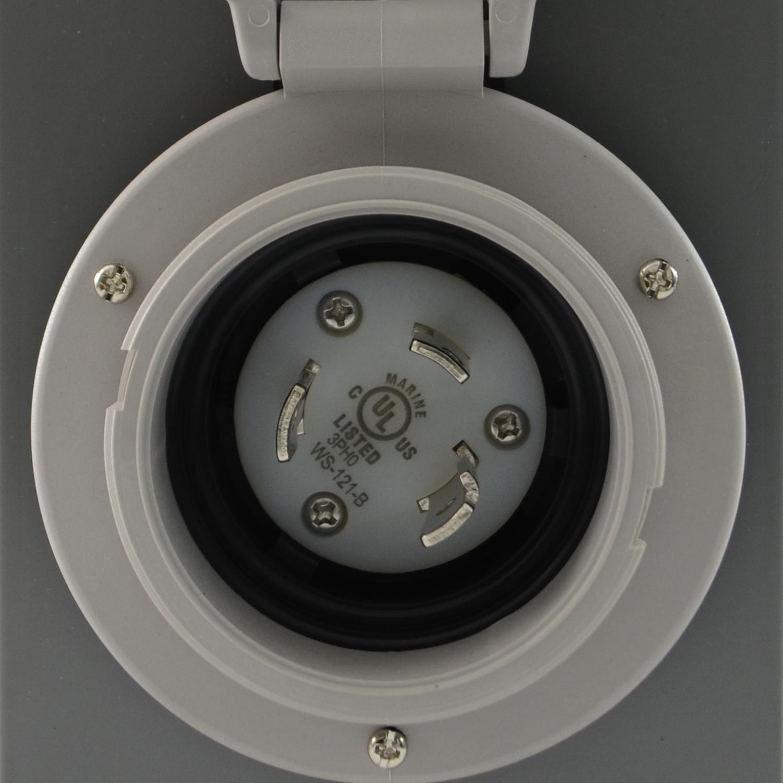 Conntek Gibl530 Nema L5 30 Power Cord Amp Inlet Box Combo