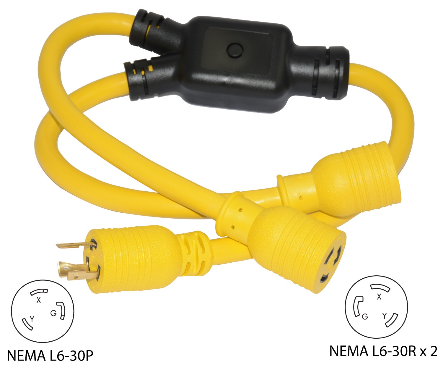 Conntek Yl630l630 Nema L6 30p To 2 L6 30r Y Adapter Splitter