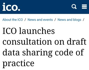 ICO data sharing code consultation