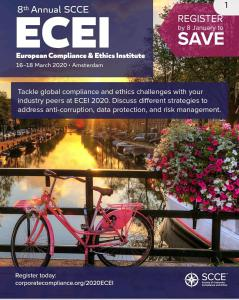 Client Alert: SCCE 8th Annual European Compliance & Ethics Institute – Amsterdam, Netherlands – 16 – 18 March 2020