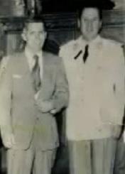 Tommy Hicks con el entonces Presidente de la Nación Juan Perón