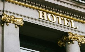 exterior of a hotel sign