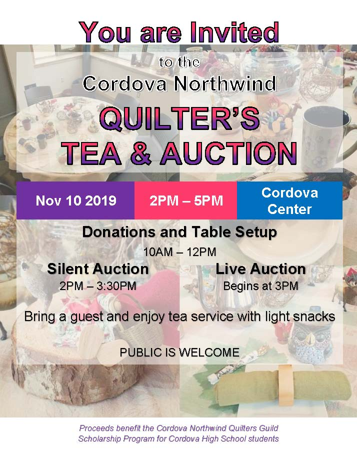 Quilter's Tea & Auction